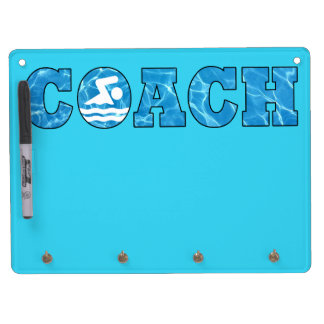 水泳のコーチのオフィスの装飾のプール水白板 キーホルダーフック付きホワイトボード