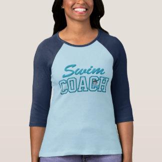 水泳のコーチの女性Tシャツ Tシャツ