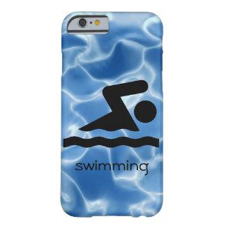 水泳のデザインの電話箱 BARELY THERE iPhone 6 ケース