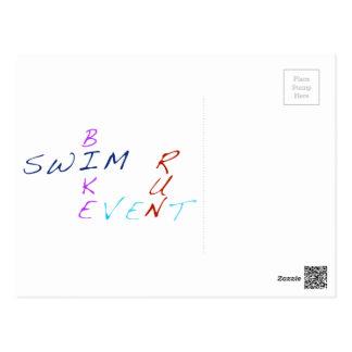 水泳のバイクの操業イベント ポストカード