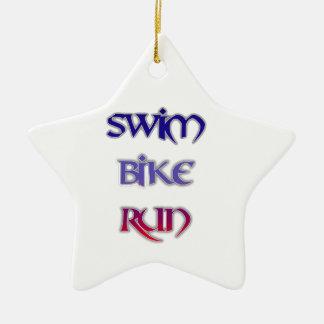 水泳のバイクの操業 セラミックオーナメント
