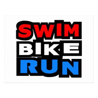 水泳のバイクの操業 ポストカード