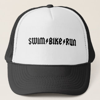 水泳のバイクは古い学校の帽子を走ります キャップ