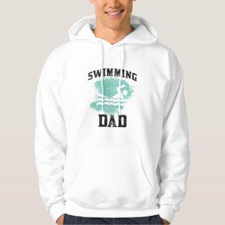 水泳のパパ パーカ