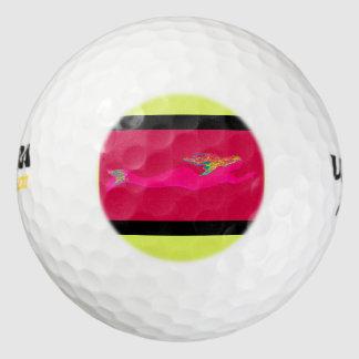水泳のピンクの人魚の赤 ゴルフボール