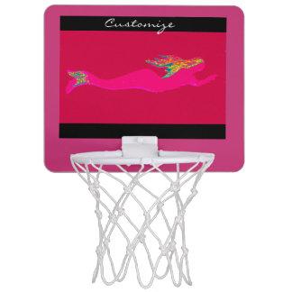 水泳のピンクの人魚背景Thunder_Cove ミニバスケットボールゴール