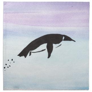 水泳のペンギン ナプキンクロス