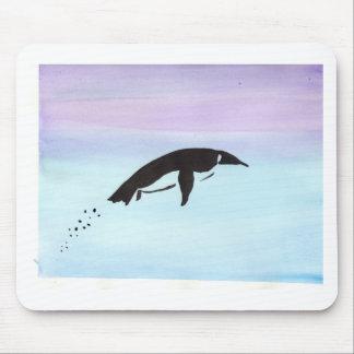水泳のペンギン マウスパッド