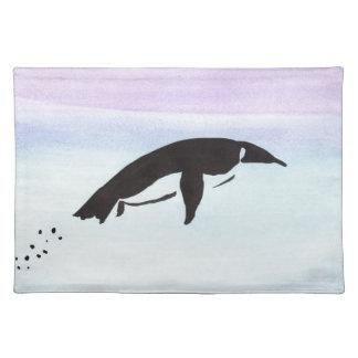 水泳のペンギン ランチョンマット