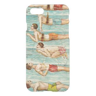 水泳のレッスンヴィンテージの図表 iPhone 8/7 ケース