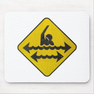 水泳の危険の印 マウスパッド