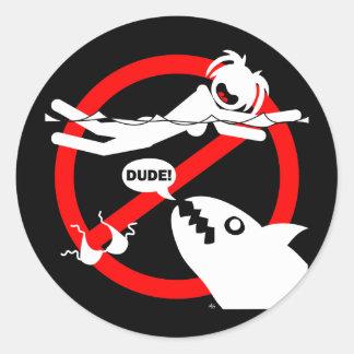 水泳の危険の磁石、ボタンおよび多く ラウンドシール