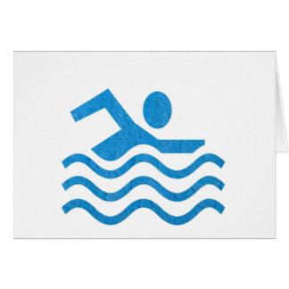 水泳の成功の水泳の泳ぐ人101 カード