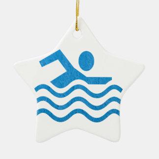 水泳の成功の水泳の泳ぐ人101 セラミックオーナメント