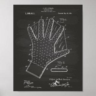 水泳の手袋1916のパテントの芸術の黒板 ポスター