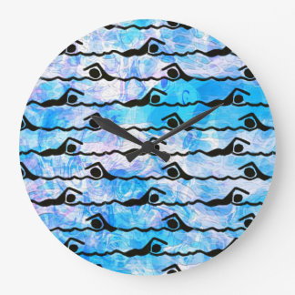 水泳の時計 ラージ壁時計