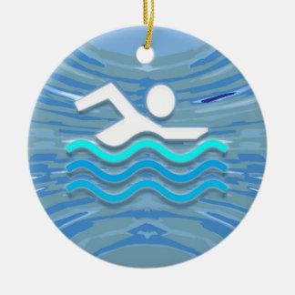 水泳の泳ぐ人の成功の飛び込みの突進の成功NVN238 セラミックオーナメント