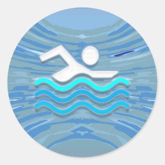 水泳の泳ぐ人の成功の飛び込みの突進の成功NVN238 ラウンドシール