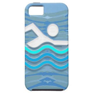 水泳の泳ぐ人の成功の飛び込みの突進の成功NVN238 iPhone SE/5/5s ケース