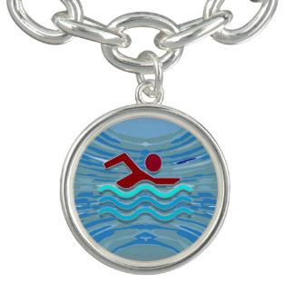 水泳の泳ぐ人賞NVN260の水泳のガールフレンド チャームブレスレット
