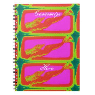 水泳の赤い人魚 ノートブック