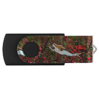 水泳の金ゴールドの髪の人魚 USBドライブ