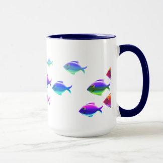 水泳の魚 マグカップ