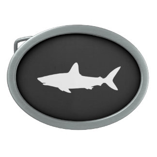 水泳の鮫 卵形バックル