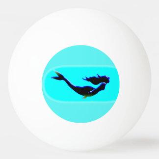水泳の黒い人魚 卓球ボール