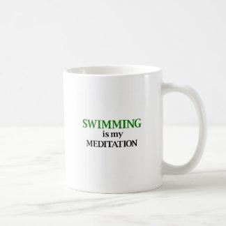 水泳は私の黙想です コーヒーマグカップ