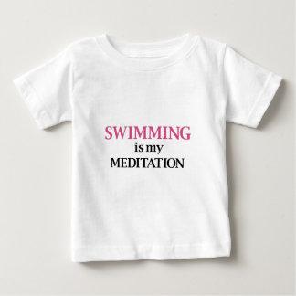 水泳は私の黙想です ベビーTシャツ