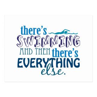 水泳はEleverythingです ポストカード