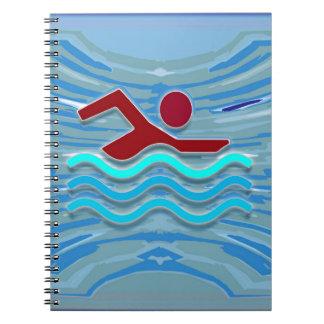 水泳クラブ泳ぐ人のエクササイズのフィットネスNVN254の水泳 ノートブック