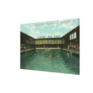 水泳タンクの眺め キャンバスプリント