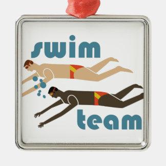 水泳チーム メタルオーナメント