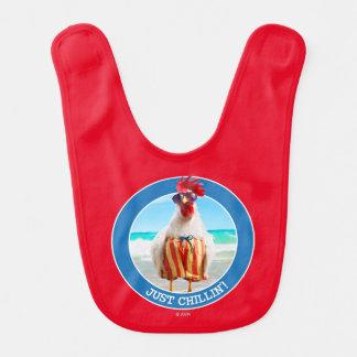 水泳パンツのビーチのオンドリの男Chillin ベビービブ