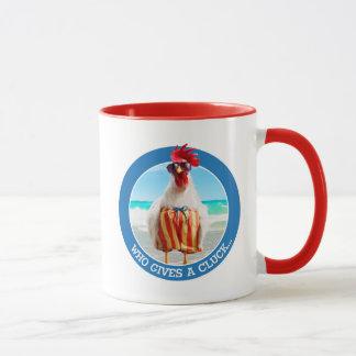 水泳パンツのビーチのオンドリの男Chillin マグカップ