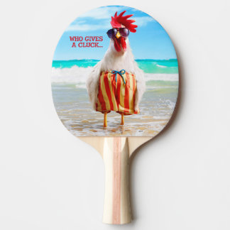 水泳パンツのビーチのオンドリの男Chillin 卓球ラケット