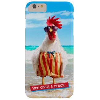 水泳パンツのビーチのオンドリの男Chillin Barely There iPhone 6 Plus ケース