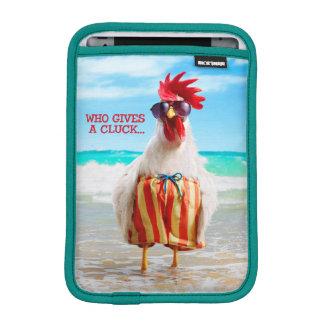 水泳パンツのビーチのオンドリの男Chillin iPad Miniスリーブ