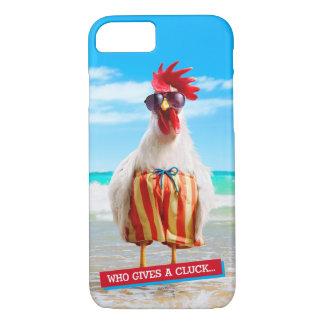 水泳パンツのビーチのオンドリの男Chillin iPhone 8/7ケース