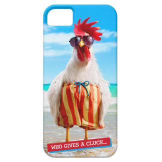 水泳パンツのビーチのオンドリの男Chillin iPhone SE/5/5s ケース