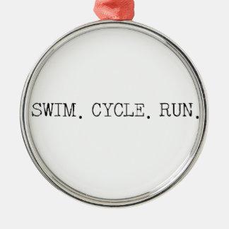 水泳周期の操業 メタルオーナメント