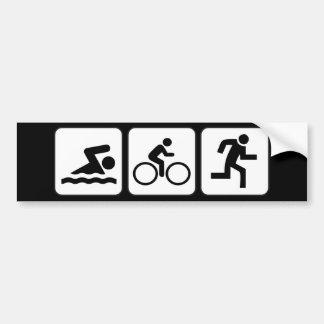 水泳、バイク、操業-トライアスロン バンパーステッカー