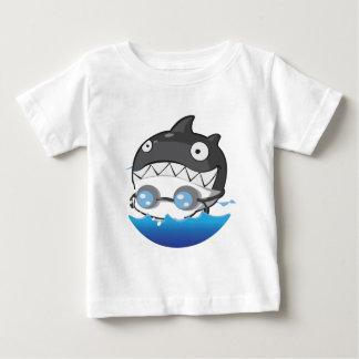 水泳 ベビーTシャツ