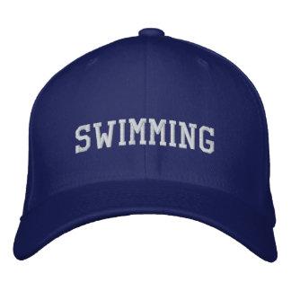 水泳 刺繍入りキャップ