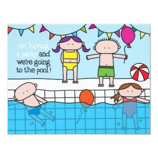 水泳-招待状 カード