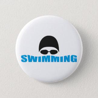 水泳 5.7CM 丸型バッジ