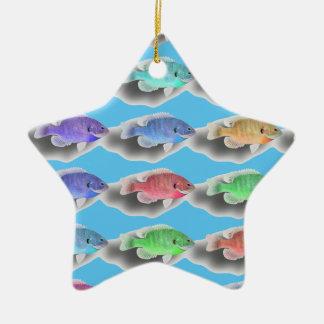 水泳Fishies セラミックオーナメント