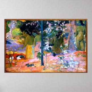 水浴者のポール・ゴーギャンの絵画の芸術ポスター ポスター